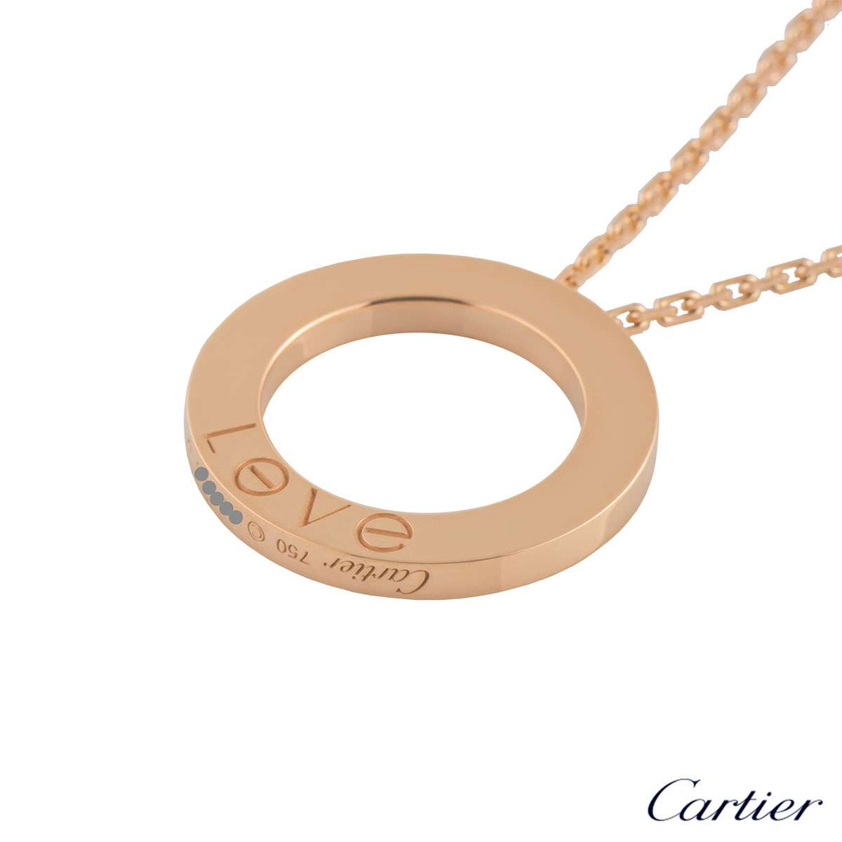 Cartier Rose Gold Plain Love Necklace B7014400